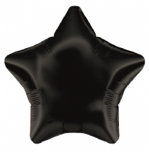 "Black Star Foil Balloon (19"" Oaktree) 1pc"